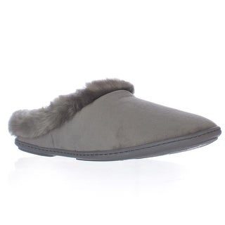 Charter Club CCPOO3 Memory Foam Slide Slippers - Dark Grey