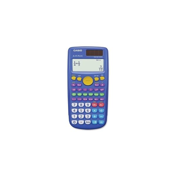 Casio fx-55Plus Casio FX-55 Plus Fraction Calculator - 12 Digit(s) - Dot Matrix - Battery Powered - 1 Each