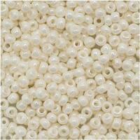 Toho Round Seed Beads 11/0 122 Opaque Lustered White 8 Gram Tube