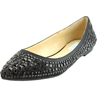 Betsey Johnson Coco Women  Pointed Toe Canvas Black Flats