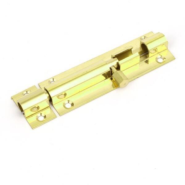 "5/"" Length Brass Door Security Latch Sliding Lock Barrel Bolt Gold Tone"
