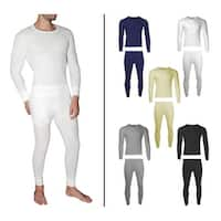 2-Piece Men's Waffle Knit Thermal Underwear Set