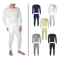 2-Piece Men's Waffle Knit Thermal Underwear Set