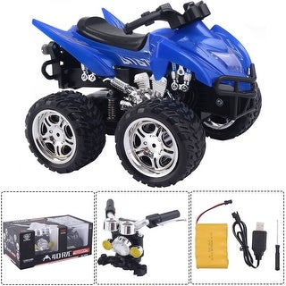 Costway 1/12 Scale 2.4G 4D R/C Simulation ATV Remote Control Motorcycle Kids Car Toys - Blue