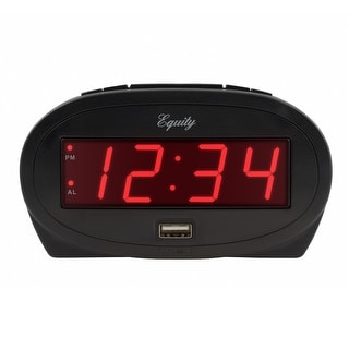 Link to Equity by La Crosse 30024 0.9 In. Red LED alarm clock with USB port Similar Items in Clocks