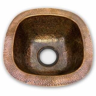 """Houzer HW-LAGBF Hammerwerks 17-7/8"""" Single Basin Undermount Hammered Copper Bar Sink"""