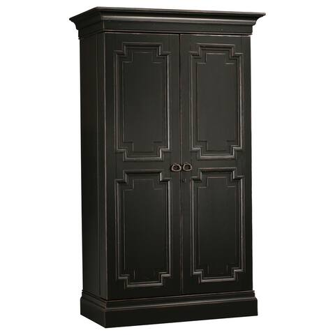 Howard Miller Sambuca Vintage Solid Wood Wardrobe Liquor Wine Cabinet - 75 inches high x 43 inches wide x 23 inches deep
