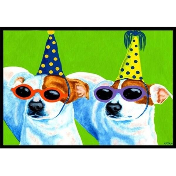 Carolines Treasures AMB1441MAT Party Animals Jack Russell Terriers Indoor or Outdoor Mat 18 x 27