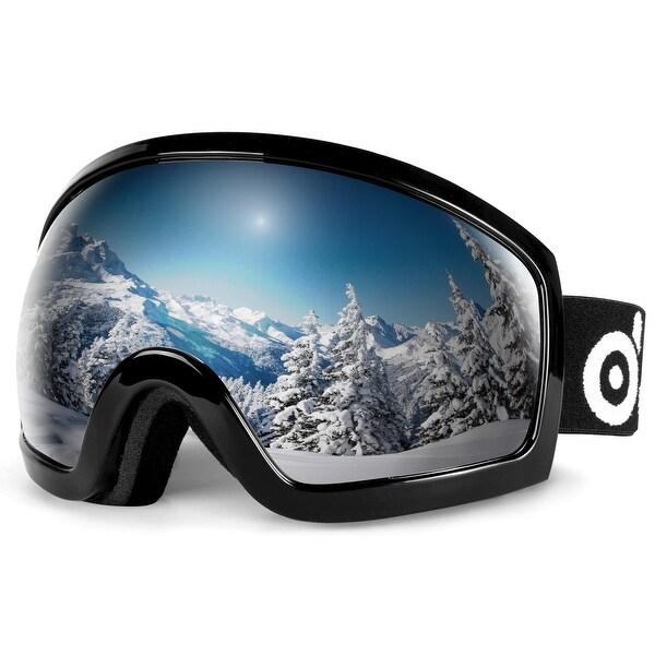 Skiing Snowboarding Goggles Double Lens Anti-fog UV 400 Adults Kids Ski Goggles