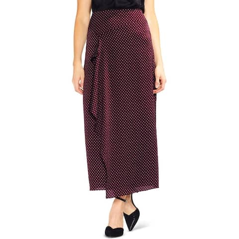 Vince Camuto Womens Maxi Skirt Printed Ruffled