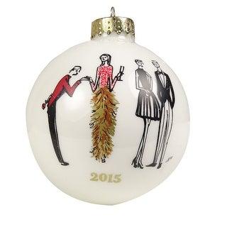 INC International Concepts 30 Year Celebration Fashion Ball Ornament (OS, White) - White - os