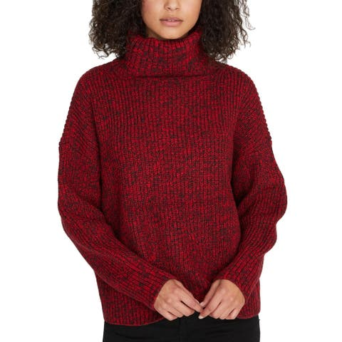 Sanctuary Womens Pullover Sweater Marled Roll Neck