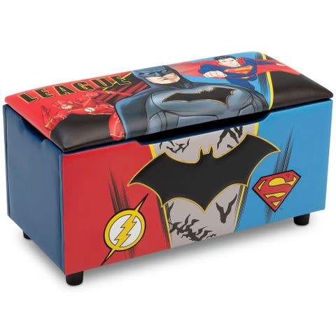 DC Comics Justice League Upholstered Storage Bench for Kids by Delta Children