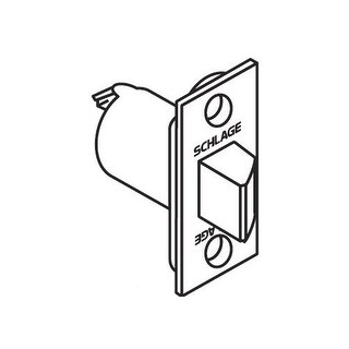 """Schlage 11-116 2 3/4"""" Replacement Spring latch with Square Corner 1 1/4"""" x 2 1/4"""" Faceplate (Option: Chrome Finish)"""