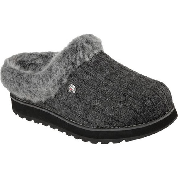 b0312045307e Shop Skechers Women s BOBS Keepsakes Ice Angel Clog Slipper Charcoal ...