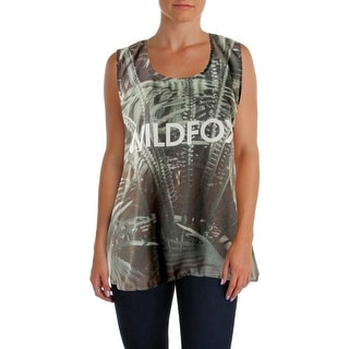 Wildfox Womens Chiffon Graphic Blouse - S