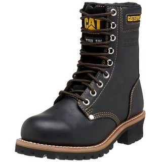 Caterpillar Mens Logger Leather Steel Toe Work Boots