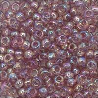 Toho Round Seed Beads 8/0 166 'Transparent Rainbow Lt Amethyst' 8 Gram Tube