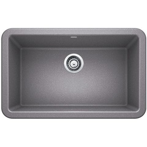 "Blanco 4017 Ikon 30"" SILGRANIT Farmhouse Apron Front Single Bowl Kitchen Sink"
