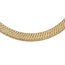 Italian 14k Gold Fancy Stretch Necklace - 17.75 inches|https://ak1.ostkcdn.com/images/products/is/images/direct/ae34a09319b2ebd4d03991c2017fd37c87863914/846608/Italian-14k-Gold-Fancy-Stretch-Necklace---17.75-inches_270_270.jpg?impolicy=medium