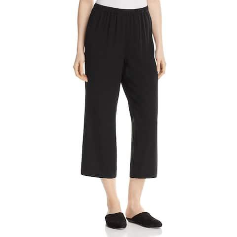 Eileen Fisher Womens Dress Pants Silk Straight Leg - Black - XL