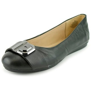 Easy Spirit e360 Gianetta Women W Round Toe Leather Black Flats
