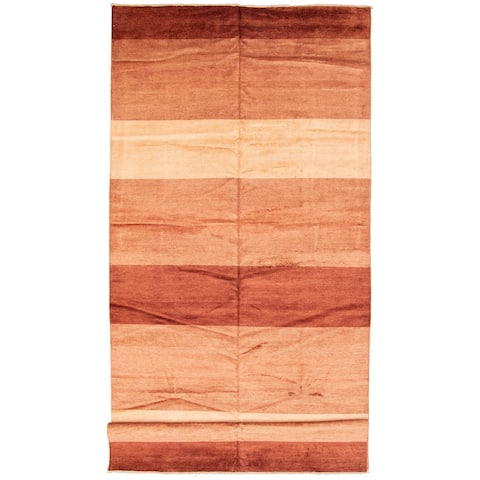 Hand-knotted Peshawar Ziegler Brown Wool Rug