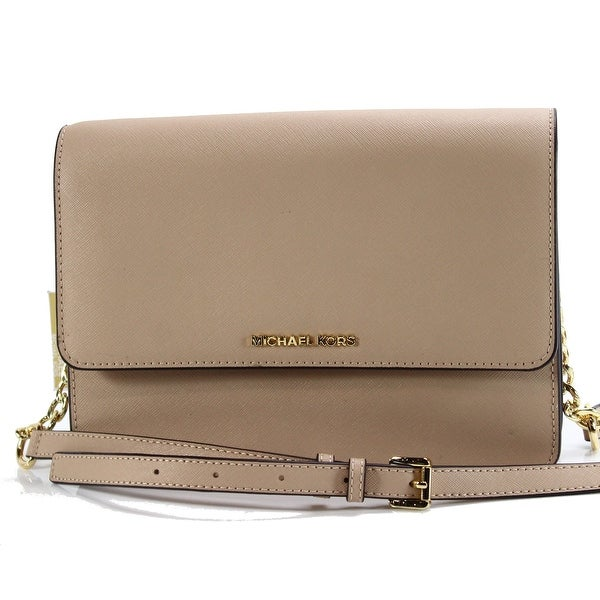 52606c510c54 Shop Michael Kors NEW Daniela Oyster Beige Crossbody Leather Handbag ...