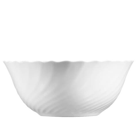 "Luminarc Trianon 7.1"" White Glass Salad Bowl"