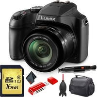 Panasonic Lumix DC-FZ80 Digital Camera + Memory Card Bundle
