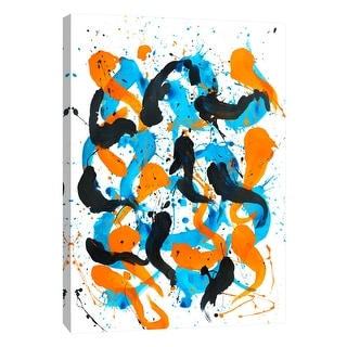 """PTM Images 9-108858  PTM Canvas Collection 10"""" x 8"""" - """"Flow 1"""" Giclee Abstract Art Print on Canvas"""