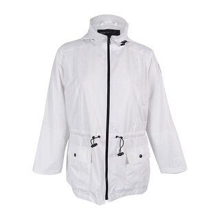 Style & Co. Women's Hooded Anorak Jacket - Bright White - XL