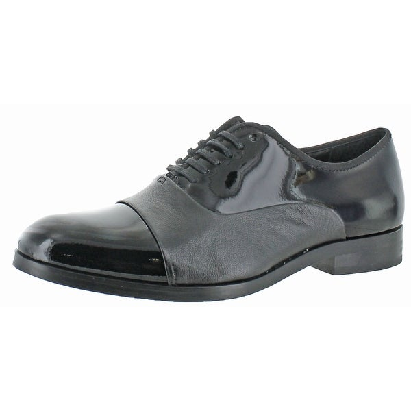 Calvin Klein Men's Lloyd Patent Leather Oxford Shoes