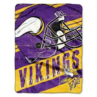 "The Northwest NFL Minnesota Vikings Deep Slant Plush Throw 46""x60"" Blanket"