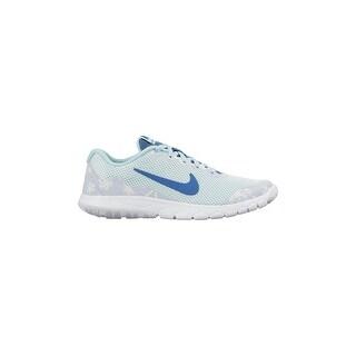 Nike Kids Flex Experience 4 Print (Gs) Fiber Glass/Porpoise/Copa/Brigade Blue 749822-300_4.5Y (5 options available)
