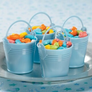 Party Favors 12/Pkg-Blue Baby Buckets