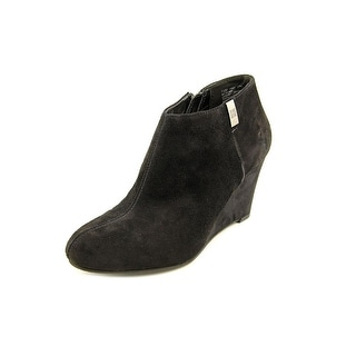 Anne Klein Trumble Round Toe Suede Ankle Boot