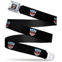 Transformers Autobot Logo Full Color Black Blue Red Fade Autobot Logo Seatbelt Belt