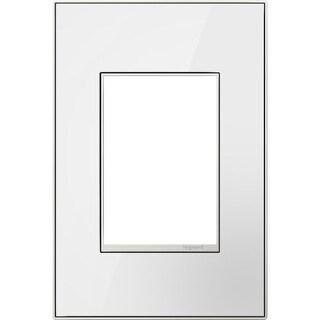 Legrand AWM1G3MW4 adorne 1 Gang Glass Wall Plate - 4.56 Inches Wide