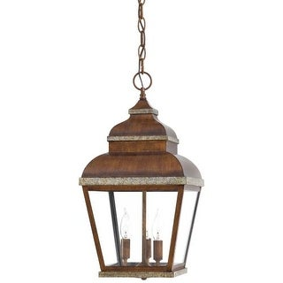 The Great Outdoors GO 8264 3 Light Lantern Pendant from the Mossoro Collection
