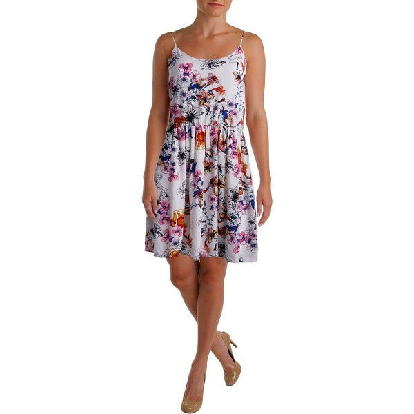 Aqua Womens Sundress Sleeveless Floral Print