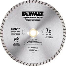 """DeWalt 7"""" Hiperf Masonry Blade"""