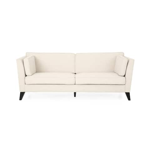 Bryford Contemporary 3 Seater Fabric Sofa by Christopher Knight Home