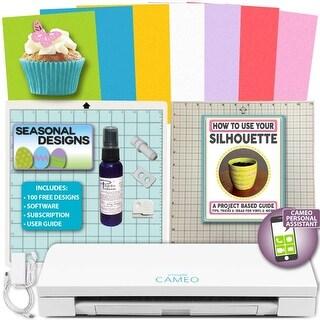 Silhouette Cameo 3 Die Cutting Machine Bundle Cake Decorating Food Art Bundle Edible Images