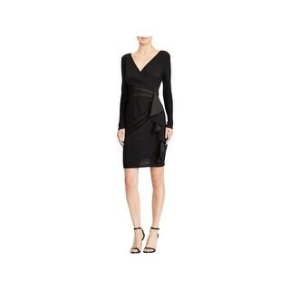 American Living Womens Plus Cocktail Dress Ruffled Faux-Wrap - 18