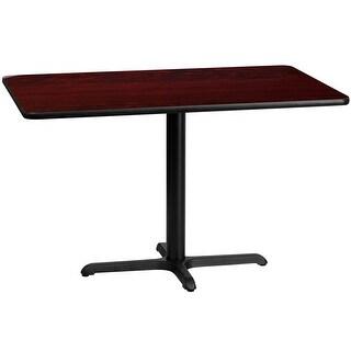 "Dyersburg 30'' x 48'' Rectangular Mahogany Laminate Table Top w/30"" High X-Base"