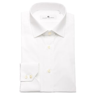 Pierre Balmain Men Slim Fit Cotton Dress Shirt Solid White