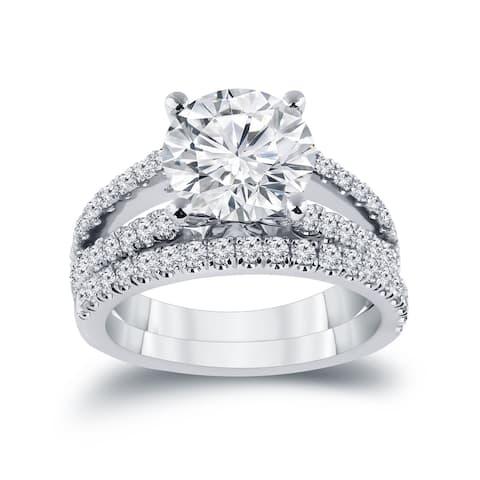 Auriya 2 5/8ctw Round Diamond Engagement Ring Set 14k Gold