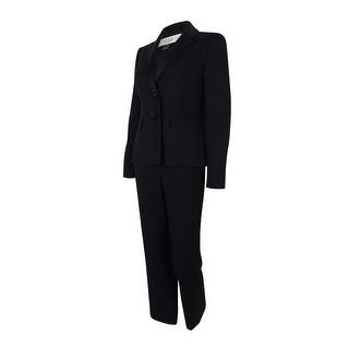Le Suit Women's Two-Button Satin Trim Pant Suit