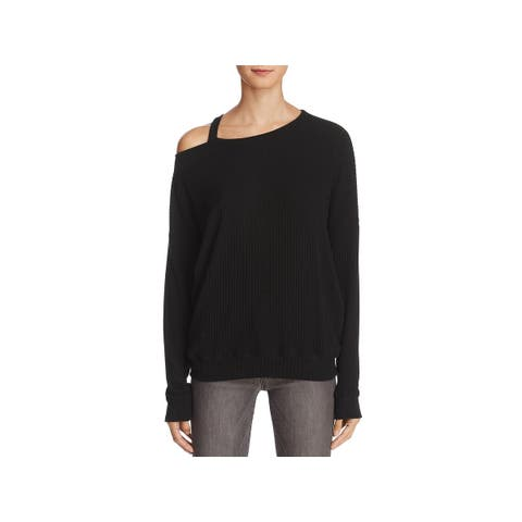 Splendid Womens Sylvie Knit Top Ribbed Cut-Out